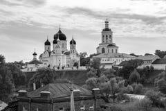 monochromatyczny wizerunek Święty Bogolyubovo monaster w pogodnym letnim dniu, Vladimir region, Rosja Obrazy Stock