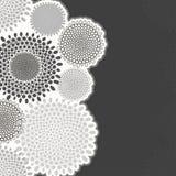 Monochrome абстрактная поздравительная открытка приглашения или иллюстрация вектора