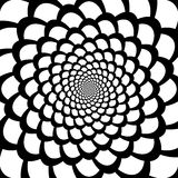 Monochrome абстрактный ба движения воронки перспективы иллюстрация вектора
