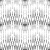 Monochrome безшовная картина на белой предпосылке Имеет форму волны Состоит из через круглые геометрические элементы в черноте Стоковые Изображения RF
