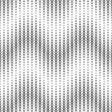 Monochrome безшовная картина на белой предпосылке Имеет форму волны Состоит из геометрических элементов в черноте Стоковая Фотография
