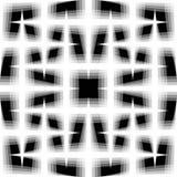 Monochrome безшовная картина переплетенных увядая линий Решетка, я бесплатная иллюстрация