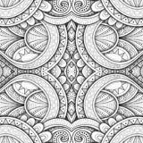 Monochrome безшовная картина плитки, причудливый калейдоскоп бесплатная иллюстрация