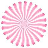 Monochrome взрыв Clipart звезд пинка 3D Стоковые Фотографии RF