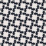 Monochrome геометрическая безшовная картина вектора Стоковые Изображения