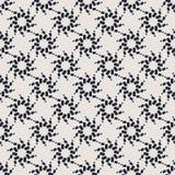 Monochrome геометрическая безшовная картина вектора Стоковое Фото