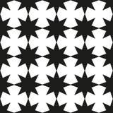Monochrome геометрическая безшовная картина с звездами рождества бесплатная иллюстрация
