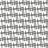 Monochrome геометрическая безшовная картина с линейным орнаментом иллюстрация штока