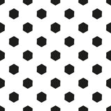 Monochrome геометрическая безшовная картина с формой шестиугольника Бесплатная Иллюстрация