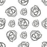 Monochrome геометрическая безшовная картина с цветком doodle бесплатная иллюстрация