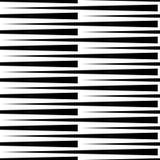 Monochrome геометрическая картина с линиями Плавно repeatable Стоковые Изображения