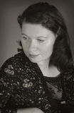 monochrome женщина портрета Стоковые Фото