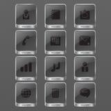 Monochrome значка Infographic Стоковое Изображение