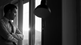 Monochrome изображение молодого бизнесмена Стоковые Фотографии RF
