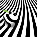 Monochrome изображение яблока на striped абстрактной предпосылке 10 eps Стоковые Изображения