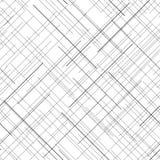 monochrome картина безшовная Раскосные случайные линии абстрактная текстура Стоковые Фотографии RF