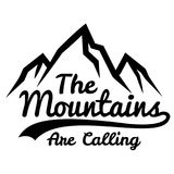 Monochrome картина вектора горы покрывает от линий Стоковое Изображение RF