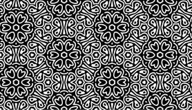 Monochrome картина с цветками иллюстрация вектора