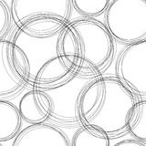 Monochrome картина Doodle Стоковые Фото