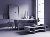 monochrome комната Стоковое Изображение RF