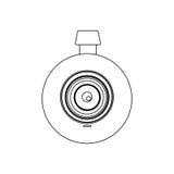 monochrome контур с объективом цифровой фотокамера Стоковое Фото