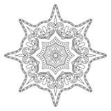 Monochrome мандала контура для книжка-раскраски бесплатная иллюстрация