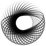 Monochrome мотив изолированный на белизне Абстрактный круговой элемент Стоковые Изображения RF