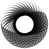 Monochrome мотив изолированный на белизне Абстрактный круговой элемент Стоковое Изображение RF