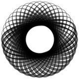 Monochrome мотив изолированный на белизне Абстрактный круговой элемент Стоковая Фотография