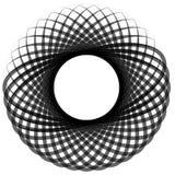 Monochrome мотив изолированный на белизне Абстрактный круговой элемент Стоковые Изображения