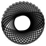 Monochrome мотив изолированный на белизне Абстрактный круговой элемент Стоковая Фотография RF