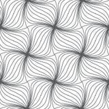 Monochrome нарисованное рукой backgrou картины swrils безшовное повторяя Стоковая Фотография