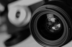 Monochrome объект пирофакела объектива Стоковые Фотографии RF