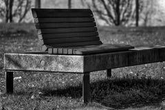 Monochrome парк стенда искусства публично, одиночество на ясном солнечном весеннем дне Стоковая Фотография