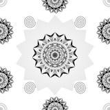 Monochrome повторил черный & белый дизайн вектора иллюстрация вектора