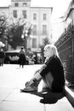 monochrome портрет урбанский Стоковые Изображения RF