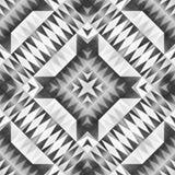 Monochrome племенная безшовная картина Печать искусства ацтекского конспекта стиля геометрическая иллюстрация вектора
