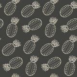 Monochrome разделенный в половинной картине ананаса Стоковое Изображение