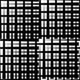 Monochrome решетка/сетка с линиями сложной формы Repeatable geometri Стоковая Фотография