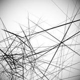 Monochrome случайные хаотические нервные линии резюмируют художническую картину Стоковое фото RF