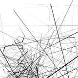 Monochrome случайные хаотические нервные линии резюмируют художническую картину Стоковое Изображение
