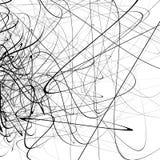 Monochrome случайный хаотический squiggle выравнивает абстрактное художническое patte иллюстрация вектора