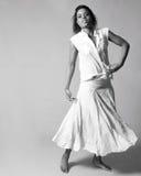 monochrome танцора женский Стоковые Фото