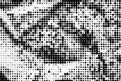 Monochrome текстура grunge конспекта предпосылки полутонового изображения Стоковая Фотография