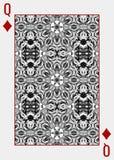 Monochrome ферзь дизайна задней части играя карточки бесплатная иллюстрация