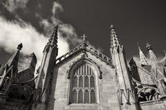 Monochrome церковь Стоковое Фото