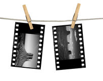 Monochrome 35mm Film Negatives of Monument Valley Stock Photos