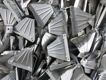 Steel computers parts for recycling stock image