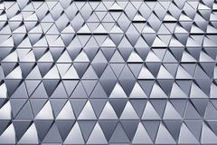 Abstract background of polygonal triangles. Monochrome abstract 3D minimalistic geometrical background of triangles Stock Photography