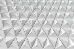 Abstract background of polygonal triangles. Monochrome abstract 3D minimalistic geometrical background of triangles Royalty Free Stock Photography